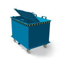 Deksel voor inklapbare bodemcontainer met automatische ontgrendeling, volume 1,5 + 2 m³