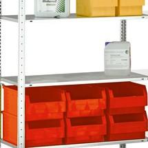 dělicí přepážka na regály SCHULTE zasouvací systém, odkládací police zatížení 150 kg, galvanizováno