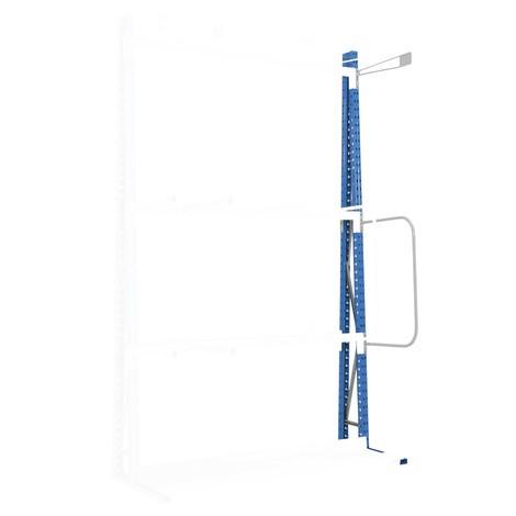 Delningsarm för vertikalhylla