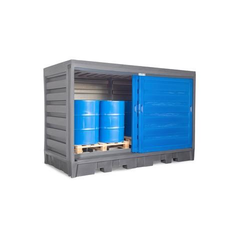 Depósito de barril feito de PE, com portas deslizantes