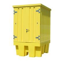 Depot af farligt materiale fremstillet af stål/PE