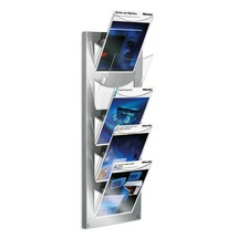 Design folderstandaard. 5 transparante vakken