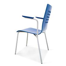 Design-Stahrohrstühle, Gestell silber, Sitz in diversen Farben