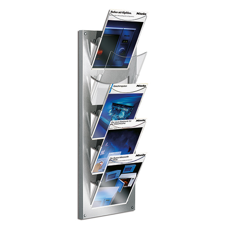 design wandprospekthalter 5 transparente f cher. Black Bedroom Furniture Sets. Home Design Ideas