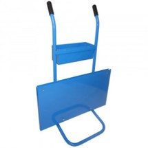 Dispenser trolley for single layer steel strapping