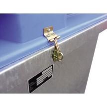 Dispositif de verrouillage pour réservoir de Collecte des huiles usagées ASO-D 800