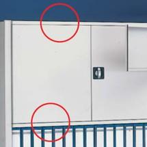 Dispositivo di bloccaggio porta per scaffalatura per documenti META, monofronte, grigio chiaro