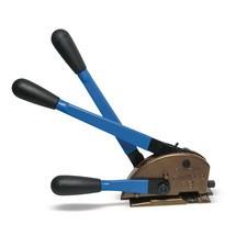 Dispositivo tensor e de fecho standard para fita de aço
