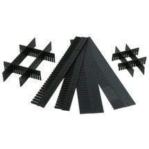 Divisores para caixas de armazenamento com frente aberta de poliestireno