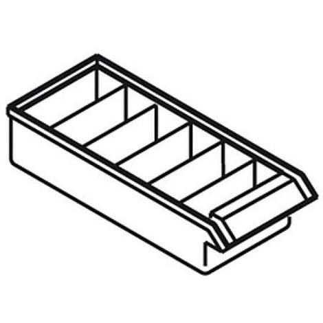 Divisória transversal para armário de arrumação para peças pequenas Premium