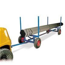 Dlouhý vozík na materiál, nosnost 3 500 kg