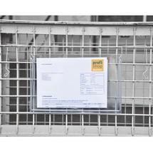 Documenthoezen met bevestigingslussen