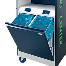 Doppel-Abfallsammler für Reinigungsstation