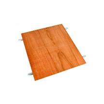 Doppio fondo in legno per contenitore su ruote a 2, 3, 4 lati