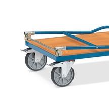 Dossier de poussée rabattable en supplément pour chariot à plateau fetra® avec treillis métallique