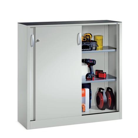 Dostawna szafka warsztatowa C+Pz2 półkami, wys. xszer. xgł. 1200 x1200 x400 mm