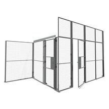 Double hinged door for TROAX® partitioning system