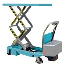 Double scissor lift table on wheels, electric, Ameise®