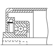 Draagrol voor rollenbanen, kunststof, veeras/as met draadeinde