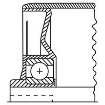 Draagrol voor rollenbanen, staal, veeras/as met draadeinde