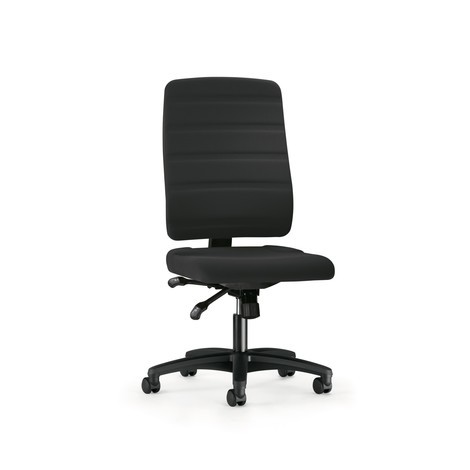 Draaibare bureaustoel prosedia Yourope 8 Plus, hoge rugleuning, wielen voor harde vloeren