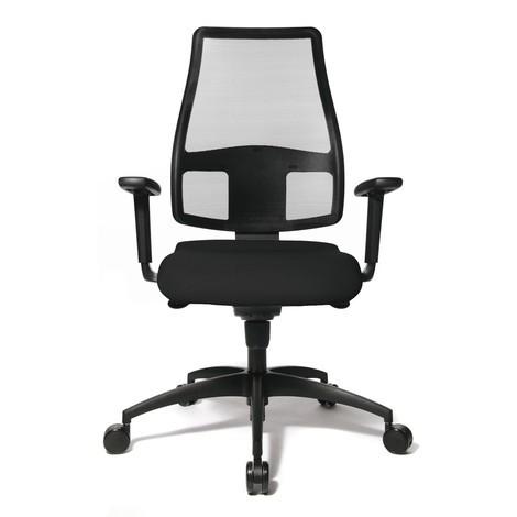 Draaibare bureaustoel, rugl. actief ademende netstructuur, 650-710mm