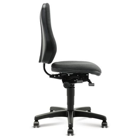 Draaibare werkstoel bimos. Extra hoge rugleuning. Zithoogte 460 - 640 mm.
