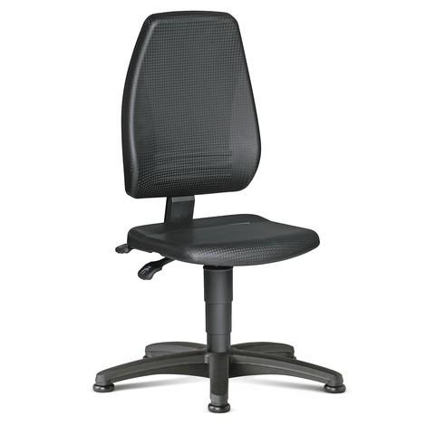 Draaibare werkstoel Bimos. Met extra hoge, ergonomische rugleuning. Zithoogte 440-620mm