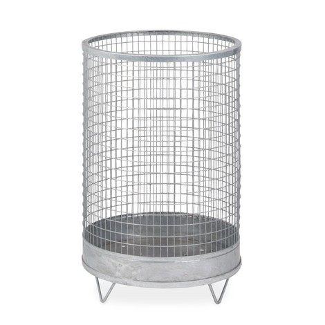 Drahtgitter-Abfallkorb, mit Gitter-/Stahlblechboden