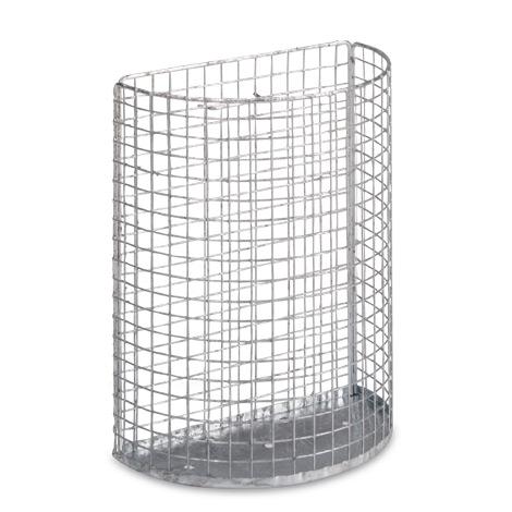 Drahtgitter-Abfallkorb zur Wand- und Pfostenmontage, 18 - 27 Liter