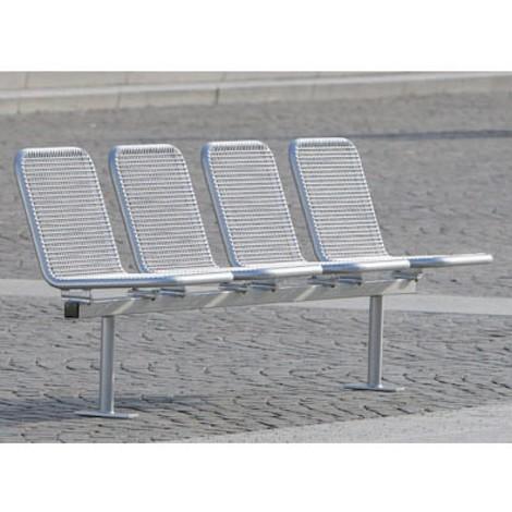Drahtgitter-Sitzgruppe Venedig, 4 Sitze, zum Einbetonieren