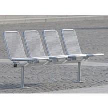 Drahtgitter-Sitzgruppe Venedig, 5 Sitze, zum Einbetonieren