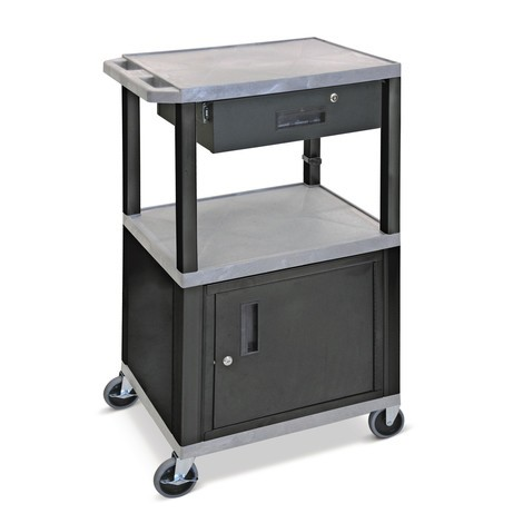 Drawer for plastic transport trolley