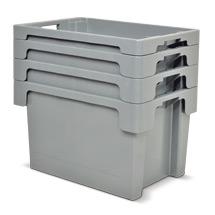 Drehstapelbehälter aus Polyethylen. Wände + Boden geschlossen