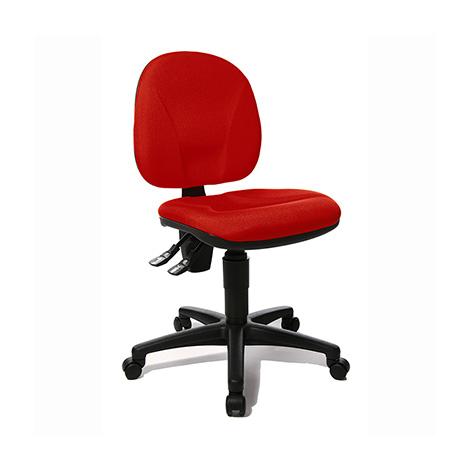 Drehstuhl Small Office Point 10 - Polsterbezug rot