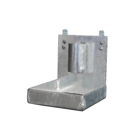 Droppbricka för fångstbassäng med metallplåt