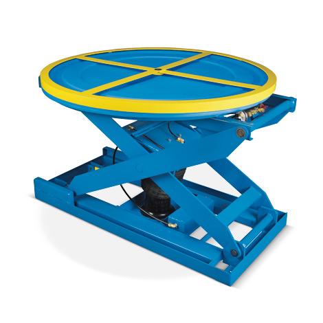 Druckluft-Scheren-Hubtisch. Tragkraft bis 2000kg