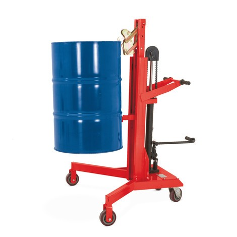 Drum lifter with foot pedal
