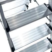 Dubbel inklapbaar trapje KRAUSE ®. 2 x 3 of 4 treden. Stahoogte tot 900 mm