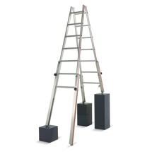 Dubbele sportenladder HYMER voor trappen, aan 2 zijden oploopbaar