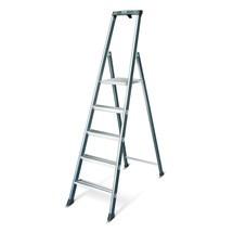 Dubbele trap KRAUSE®, 1-zijdig begaanbaar, geëloxeerd aluminium