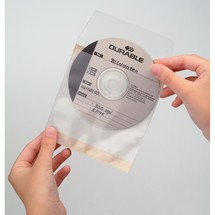 DURABLE CD DVD-Hüllen FIX mit Verschlussklappe