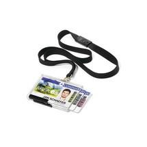 DURABLE Kartenhalter PUSHBOX TRIO mit Textilband 20 Stück