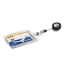 DURABLE Namensschild Hartbox, mit Ausweishalter für 1 oder 2 Ausweise