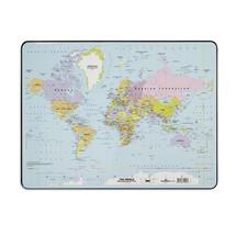 DURABLE Schreibunterlage mit Weltkarte 530 x 400 mm 20er SET