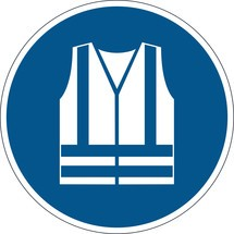 DURABLE Symbol: Warnweste benutzen