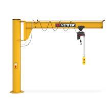 dźwig huśtawka VETTER włącznie ELECTROLIFT elektryczny łańcuch, wariant kolumnowa, niska konstrukcja