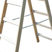 Échelle double à barreaux KRAUSE® en bois, accessible des deux côtés