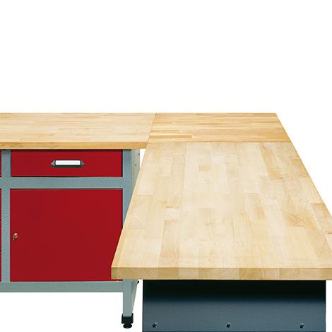 Eck-/Verbindungselement für Werkstatteinrichtungs-Sets. Stärke 30 mm