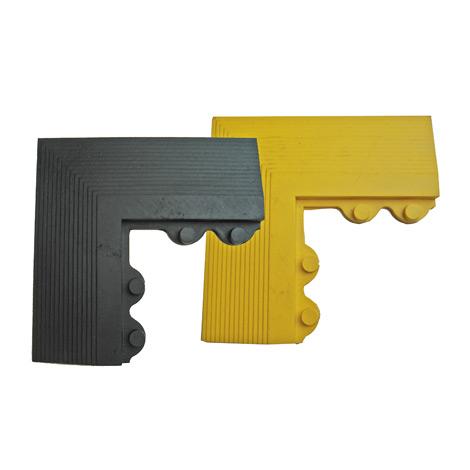 Eckelemente für Bodenplatte Quadro, schwarz / gelb